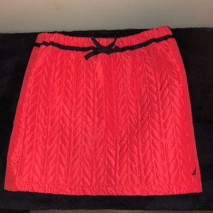 🐘Girls Pink Nautica Quilted Skirt